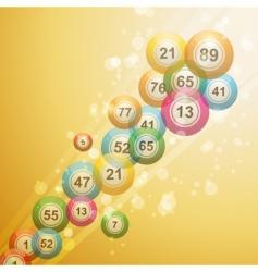 bingo ball border vector image vector image