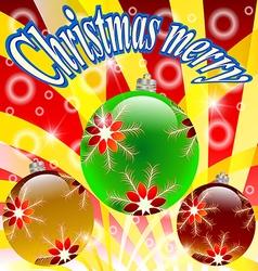 Christmas holiday xmas design new year winter gree vector image vector image