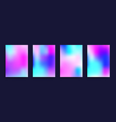 Cover templates with holographic effect vector
