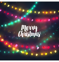 Cozy colorful christmas lights garlands vector