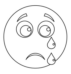cry smile icon thin line vector image