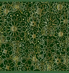 Decorative golden floral mandala seamless pattern vector
