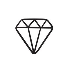 Diamond sketch icon vector