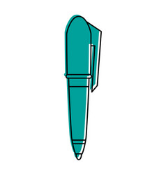 Elegant pen icon image vector