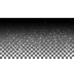 Falling snow on a transparent background vector image
