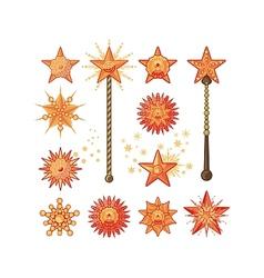Festive Stars vector image vector image