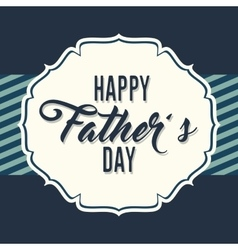 Happy fathers day letters emblem and related icons vector