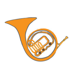 Isolated horn instrument vector