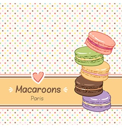 Macarons background vector