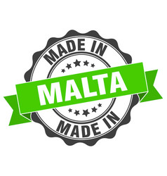 Made in malta round seal vector