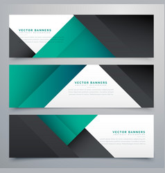 Minimal set of banners and headers vector