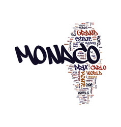 Monaco grand prix may text background word cloud vector