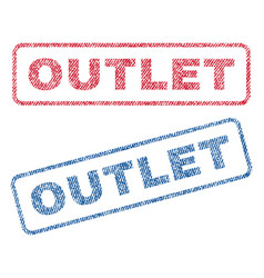 Outlet textile stamps vector