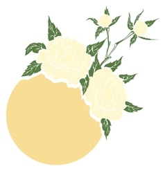 Peonies flower composition vector