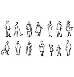 People sketch vector