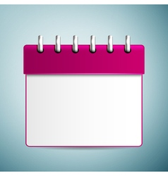 Purple calendar icon isolated on blue background vector