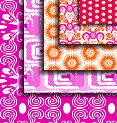 Set purple abstract pattern vector