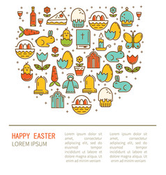 simple of happy easter vector image