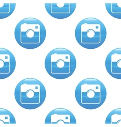 Square camera sign pattern vector