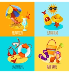 Summer Holidays Set vector image vector image