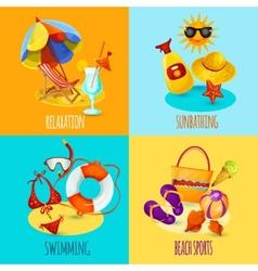 Summer holidays set vector