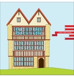 Tudor style house vector