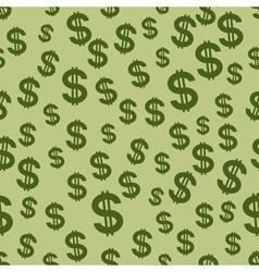 US Dollar pattern vector image vector image