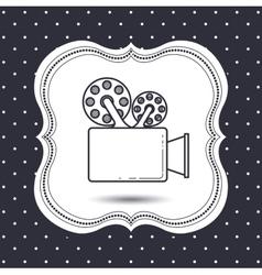 video cam icon design vector image