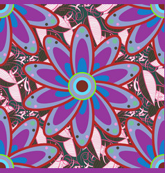 Vintage flower design elements blue purple and vector