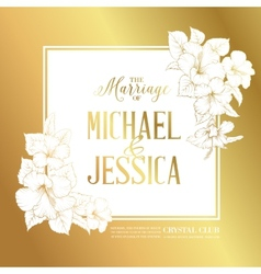 Wedding invitation text vector image