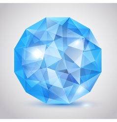 Big blue crystal vector