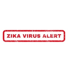 Zika virus alert rubber stamp vector