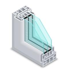 Energy efficient window cross section vector