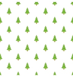 Fur tree pattern cartoon style vector