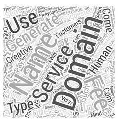 Domain name generators word cloud concept vector