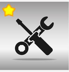 work tool black icon button logo symbol vector image