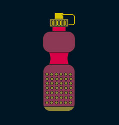 Icon in flat design sports bottle vector