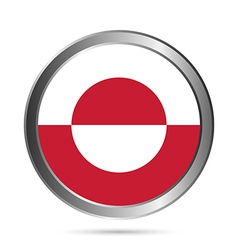 Greenland flag button vector