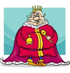 fat king cartoon fantasy character vector image