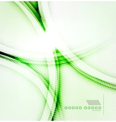 Green shadow wave abstract background vector