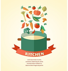Vegetarian and vegan healthy organic background vector