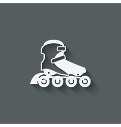 Roller skate symbol vector