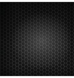 Black hexagon grill vector