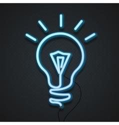 Neon lamp vector