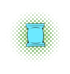 Wet wipes package icon comics style vector
