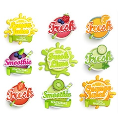 Set of labels splash vector
