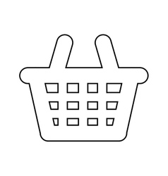 Shopping basket isolated icon design vector