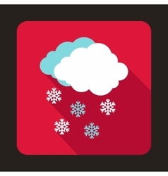 Cloud and snowflakes icon flat style vector