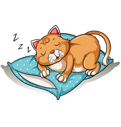 A cat taking a nap vector