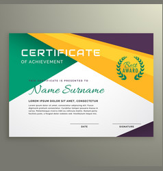 abstract geometric certificate of achievement vector image vector image